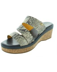 Cole Haan - Womens Allesa Snake Print Open Toe Platform Sandals - Lyst