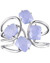 Catherine Malandrino - Blue Agate Cuff Bracelet In Sterling Silver - Lyst