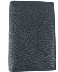 Tod's - Tods Mens Black Grained Leather Center Stitched Vertical Card Holder - Lyst