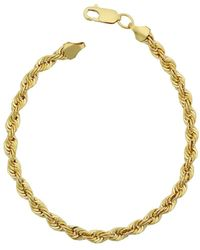 Jewelry Affairs - 14k Yellow Gold Filled Solid Rope Chain Bracelet, 4.5mm, 8.5 - Lyst