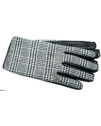 Gloves International - Men's Houndstooth Tweed Leather Touchscreen Gloves - Lyst