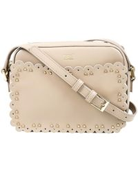 Class Roberto Cavalli - Beige Small Shoulder Bag Leolace 002 - Lyst