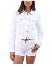 J Brand - Women's Harlow Denim Jacket In Fallen Destruct - Lyst