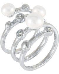Splendid - Multi Shank Pearl Ring Set In Sterling Silver - Lyst