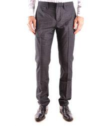 Siviglia | Men's Grey Wool Trousers | Lyst