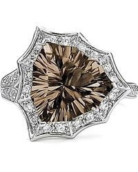 Tia Collections - Smokey Quartz Star Ring In Sterling Silver - Lyst