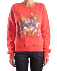Frankie Morello - Women's Red Cotton Sweatshirt - Lyst