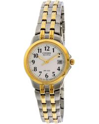 Citizen - Ew1544-53a Stainless-steel Plated Eco-drive Fashion Watch - Lyst