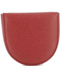 Valextra - Women's Red Leather Wallet - Lyst