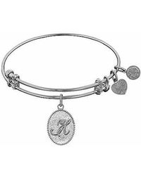 Angelica - Initial Bangle- H - Lyst