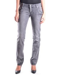 Frankie Morello - Women's Mcbi125003o Grey Cotton Jeans - Lyst