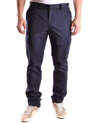 GANT - Men's Mcbi131127o Blue Cotton Pants - Lyst
