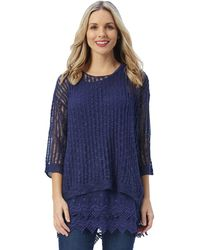 Patchington - Open Lined Knit Sweater - Lyst