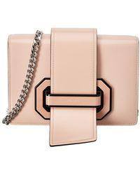 ce251701f18c Lyst - Prada Jewel Embellished Metal Leather Ribbon Bag in Black