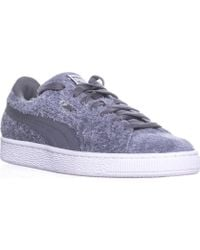 5df452131b Lyst - Puma 76 Runner Canvas Men Round Toe Canvas Gray Sneakers in ...