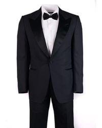 Tom Ford - Mens Black Wool Satin Trim Winsdor 2 Piece Suit - Lyst