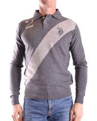 U.S. POLO ASSN. - U.s. Polo Assn. Men's Grey Viscose Polo Shirt - Lyst