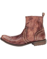 Bed Stu - Mens Revolution Leather Square Toe Ankle Fashion Boots - Lyst
