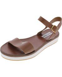 Steve Madden - Donddi-p Open Toe Slingback Flatform Sandals - Lyst