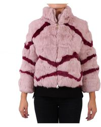 Blugirl Blumarine - Women's Pink Leather Outerwear Jacket - Lyst
