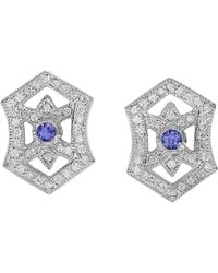 Effy - Fine Jewelry 14k 0.83 Ct. Tw. Diamond & Tanzanite Earrings - Lyst
