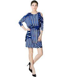 Calvin Klein - Cold Shoulder Blouson Dress - Lyst