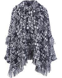 Dolce & Gabbana - Dolce E Gabbana Women's White/black Wool Coat - Lyst