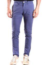 Siviglia | Men's Blue Cotton Trousers | Lyst