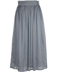 Fabiana Filippi - Women's Grey Cotton Skirt - Lyst