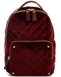 Bungalow 20 - Scarlet Quilted Velvet Backpack - Lyst