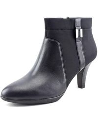 Alfani - Venah Women Round Toe Canvas Black Ankle Boot - Lyst