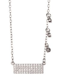 Adornia - Sterling Silver Bar Necklace - Lyst