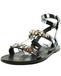 e068b53da0c2 COACH - Eleanor Mirror Metallic Open Toe Leather Gladiator Sandal - Lyst