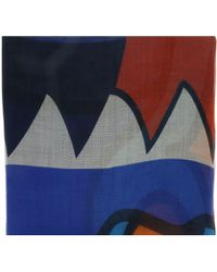 Givenchy - 1212gv Sd914 1 Navy Blue Printed Scarf - Lyst