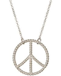 Adornia - Peace Necklace Silver - Lyst
