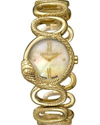 Roberto Cavalli - Rc-30 Swiss Made Women's Swiss Quartz Gold Stainless Steel Bracelet Watch - Lyst