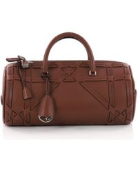 Dior - Pre Owned Connect Duffle Bag Giant Cannage Woven Leather - Lyst