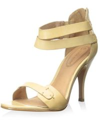 Corso Como - Womens Turks Leather Open Toe Formal Ankle Strap Sandals - Lyst