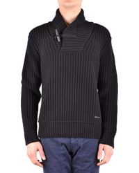 Burberry - Men's Black Wool Jumper - Lyst