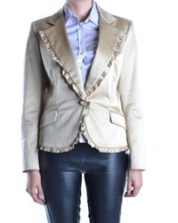 Iceberg - Women's Beige Cotton Blazer - Lyst