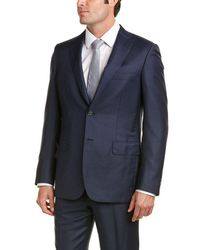 Brioni - Wool Suit With Flat Front Pant - Lyst