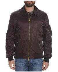 Burberry - Men's Burgundy Polyamide Outerwear Jacket - Lyst