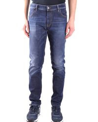 Paolo Pecora - Men's Blue Cotton Jeans - Lyst