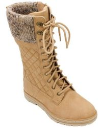 White Mountain Footwear - Women's Karline Quilted Tall Sweater Boot - Lyst