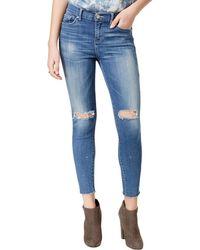 William Rast - Womens Juniors Skinny Distressed Ankle Jeans - Lyst