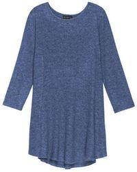 Bobeau - Soft Brushed Plus Size Babydoll Hemline Knit - Lyst