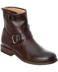 Frye - Women's Tyler Leather Engineer Boot, 9, Brown - Lyst
