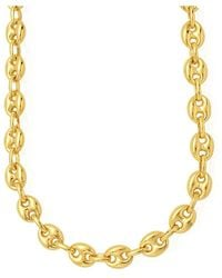 Jewelry Affairs - 14k Yellow Gold Mariner Link Chain Mens Bracelet 4.7mm, 10 - Lyst