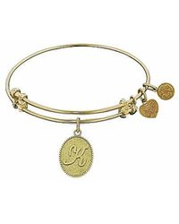 Angelica - Initial Bangle- K - Lyst