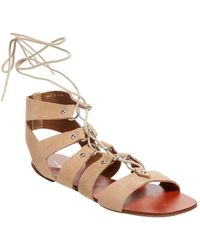 Shellys London - Shelly's London Ivy Suede Lace-up Sandal - Lyst